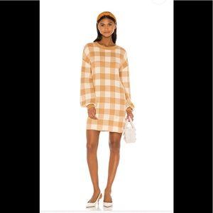 LPA Floyd plaid sweater dress XS